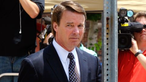 GREENSBORO, NC -  MAY 29:  Former U.S. Sen. John Edwards leaves for lunch during the seventh day of jury deliberations at federal court May 29, 2012 in Greensboro, North Carolina.  Edwards, a former presidential candidate, plead not guilty to six counts of campaign finance violations and could face a maximum of 30 years in jail and $1.5 million in fines. (Photo by Sara D. Davis/Getty Images)