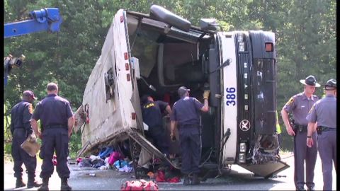 Four people died and 49 were injured in the crash of a Sky Express Bus outside of Richmond on May 31, 2011.