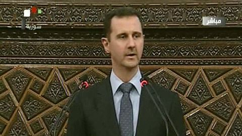 """Syrian President Bashar al-Assad said the Turkish people """"are our brothers""""."""