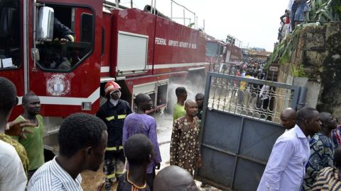 """""""It was so hot, we couldn't get close because of the fire,"""" Green-Adebo said. """"I just kept thinking about the people, if there was anyone in there."""""""