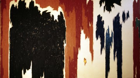 """Toward the end of his career, Still's art started to become even more abstract -- objects lost their shape entirely, as seen in this 1976 work titled """"PH-1023."""""""