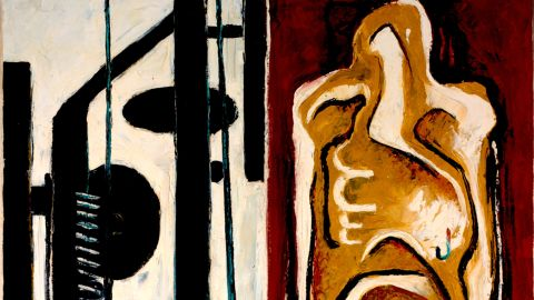 """Still's art would quickly morph into a style later known as abstract expressionism, as evident in this 1937 piece titled """"PH-343."""""""