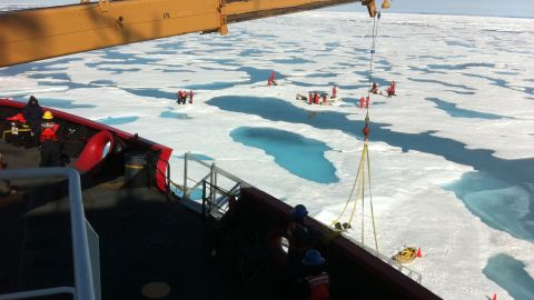Scientists on NASA's ICESCAPE expedition discovered vast amounts of phytoplankton blooming under sea ice, thanks to the magnifying properties of melt pools.