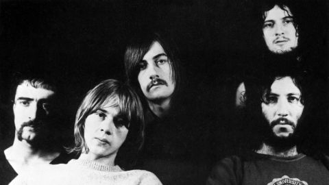 John McVie, from left, Danny Kirwan, Mick Fleetwood, Jeremy Spencer and Peter Green pose in 1969.