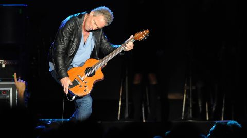 """Lindsey Buckingham plays during on the 2009 """"Unleashed"""" Fleetwood Mac tour. Buckingham was the lead singer from 1975 to 1987, and form 1997 to present day."""