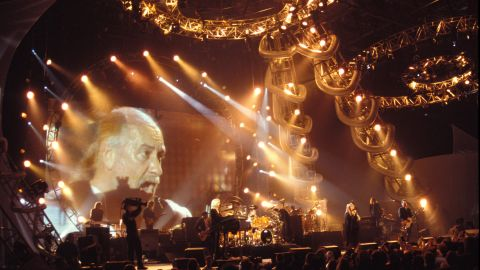 In London, Fleetwood Mac perform together in 1998.
