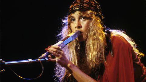 Nicks sings in concert in 1978.