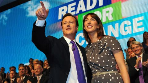 British Prime Minister David Cameron and wife Samantha accidentally left their daughter in a pub a few months ago.
