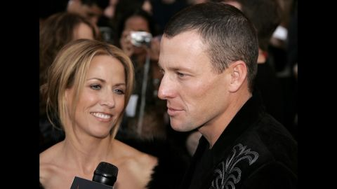 Armstrong arrives at the 2005 American Music Award in Los Angeles with his then-fiancee Sheryl Crow. The couple never made it down the aisle, splitting up the following year.