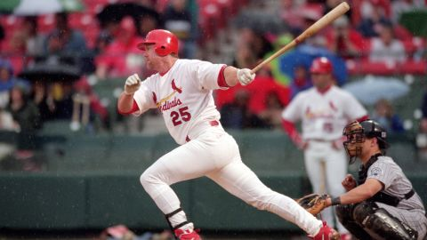 """Baseball slugger Mark McGwire evaded questions about steroid use when speaking to Congress in 2005. But in 2010, he <a href=""""http://www.cnn.com/2010/US/01/17/mark.mcgwire.steroids/index.html"""">admitted that he had used steroids</a> during the 1990s."""