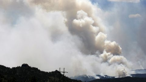 A large smoke plume rises from the High Park Fire west of Fort Collins on Wednesday.