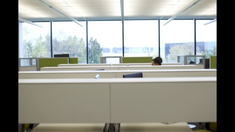 """Steelcase employees take advantage of the company's product lines. As one designer says, """"We're kind of our own customer."""""""