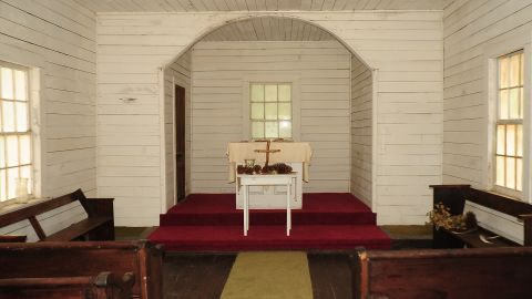 The First African Baptist Church was part of the Settlement, an area established in the 1890s for African American workers.