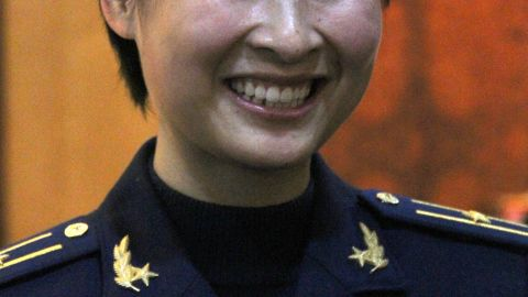 People's Liberation Army (PLA) Air Force fighter pilot Liu Yang, as seen in March 2010, will be China's first woman in space.