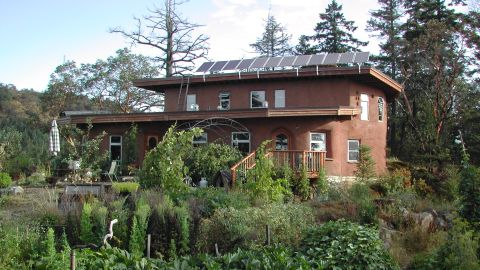 Partially-certified by the LBC -- This sustainable home in Victoria, Canada, uses earthen architecture made of cob (clay, sand and straw).