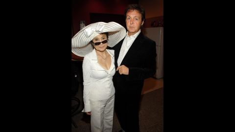 """In 2006, Yoko Ono and McCartney attend  """"LOVE,"""" a Beatles-inspired performance by Cirque du Soleil in Las Vegas."""