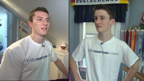 Brothers Steven and Jeffrey Gluckstein are vying for one spot at on the U.S. Olympics men's trampoline team.