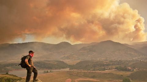 """CNN iReporter Bryan Maltais of Fort Collins, Colorado, took this picture of the Colorado fire from the cliffs above Horsetooth Reservoir in Larimer County. He started documenting the situation on June 10. """"Many people I know have been brought to tears for the people who have lost their homes, and for the destruction of so much forest,"""" he said."""