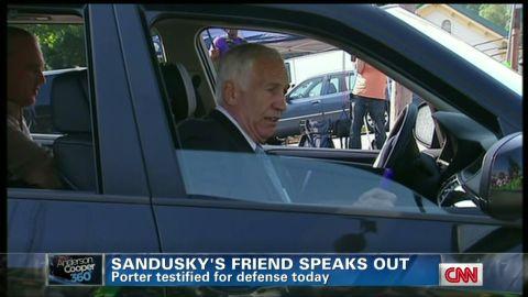 Sandusky profile shot from car