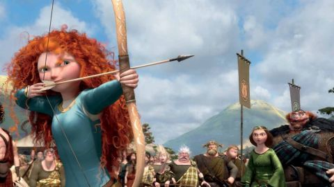 """Merida, a Scottish princess, sets out to break her family's curse in Disney-Pixar's 2012 film """"Brave."""" She's a skilled archer, a good swordfighter and a pretty good horsewoman, too."""