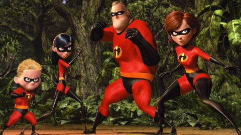 """Helen """"Elastigirl"""" Parr and her daughter, Violet, fight alongside the rest of the Incredible family to defeat Syndrome in 2004's """"The Incredibles."""""""