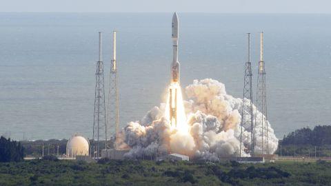 NASA's Curiosity rover heads for space November 26 atop an Atlas 5 rocket at Cape Canaveral, Florida.