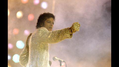 Michael Jackson in Buffalo, New York on August 26,1984.