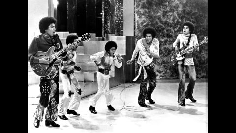 The Jackson 5 perform on a TV show circa 1969. From left, Tito Jackson, Marlon Jackson, Michael Jackson, Jackie Jackson and Jermaine Jackson.