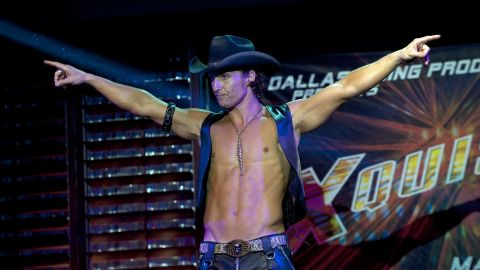 """Believe it or not, Matthew McConaughey passed up an opportunity to shed some of his clothes. The actor didn't reprise his role of male stripper Dallas in """"Magic Mike XXL."""" This doesn't mean McConaughey's changed his ways; <a href=""""http://www.gq.com/moty/2013/matthew-mcconaughey-leading-men-of-the-year-leading-man"""" target=""""_blank"""" target=""""_blank"""">he told GQ magazine</a> in December 2013 that yes, he does still like to <a href=""""http://www.people.com/people/article/0,,616800,00.html"""" target=""""_blank"""" target=""""_blank"""">play the bongo drums naked. </a>"""