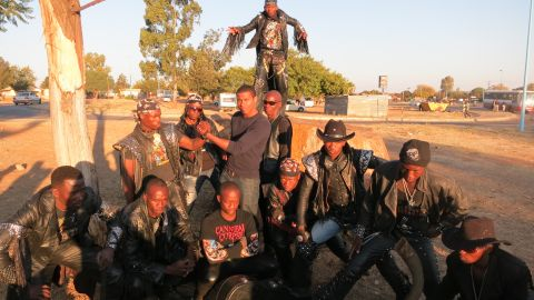 """CNN's Errol Barnett -- or """"Killah"""" as he was dubbed by Gunsmoke -- gets down with the rockers for Inside Africa in 2012."""