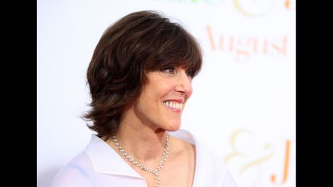 """In 2009, Ephron attends the """"Julie & Julia"""" premiere in New York. She directed the movie, which earned Meryl Streep an Oscar nomination."""