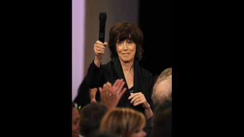 Ephron speaks during the 38th AFI Life Achievement Award honoring Mike Nichols at Sony Pictures Studios on June 10, 2010, in Culver City, California.