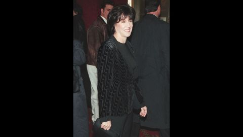 """In 1998, Ephron arrives at the premiere of """"You've Got Mail"""" in New York. In the movie, Tom Hanks and Meg Ryan play enemies who meet anonymously online and fall in love."""