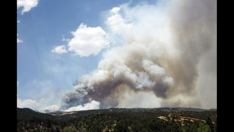Smoke billows from the Waldo Canyon Fire west of Colorado Springs on Tuesday.