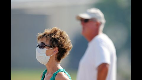 Susan Custer and her husband, Gary Custer, watch the Waldo Canyon Fire on Wednesday.