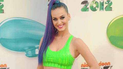 The singer sported a slime-inspired top at the 2012 Nickelodeon Kids' Choice Awards in March.