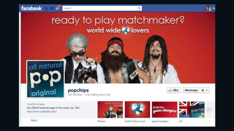 """Popchips' Facebook page had featured the video campaign with Ashton Kutcher but not """"Raj."""""""