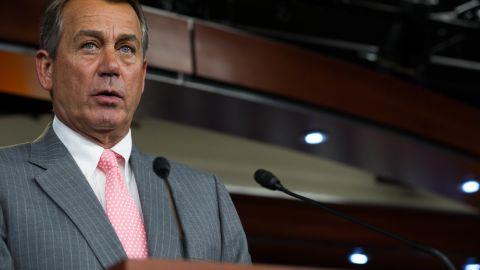 House Speaker John Boehner spoke with the media soon after the Supreme Court's ruling last Thursday.