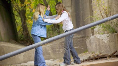 Boys and girls use physical violence to exert their power, researchers say.