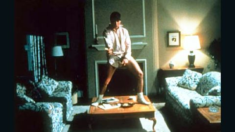 """This scene from 1983's """"Risky Business,"""" which features Cruise's Joel Goodson dancing around sans his pants, has been immortalized in Guitar Hero commercials and 1999's """"Never Been Kissed."""""""