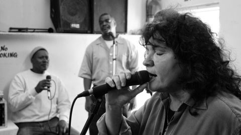 Blues singer Rita Chiarelli went to Angola with the original intention of playing solo for the prisoners.