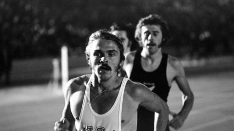 Steve Prefontaine set the 5,000 meter record at the U.S. Olympic trials in 1972, a record that stood for 40 years.