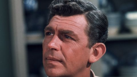 Headshot of American actor Andy Griffith in his uniform as sheriff Andy Taylor on, 'The Andy Griffith Show,' late 1960s.