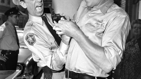 """Griffith and Don Knotts were beloved co-stars in the CBS television series """"The Andy Griffith Show"""" from 1960 through 1968."""