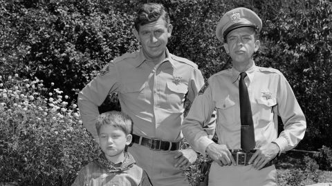 Andy Griffith, Don Knotts and Ron Howard on the set of the Andy Griffith Show