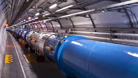 Higgs boson research takes place at the Large Hadron Collider -- a circular tunnel located 100 meters (328 feet) underground. It uses a particle accelerator to collide protons at extreme speeds. By combining their data, researchers found that there are different ways to produce a Higgs boson, and different ways for a Higgs boson to decay to other particles.
