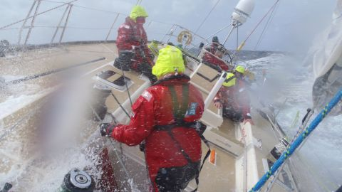 """She decided to take part in the eighth and final leg of the race -- crossing the Atlantic Ocean. The journey was a grueling affair plagued by tropical storms and rough seas. Laymond described it as her """"toughest ever challenge."""""""