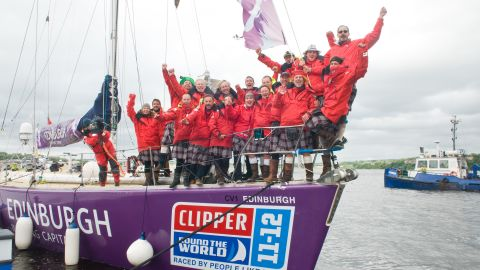 """She is part of a multinational crew that is taking part in the bi-annual """"Clipper Round the World Yacht Race"""" -- the only sailing race in the world where crews are made up of ordinary people, many with little or no sailing experience."""