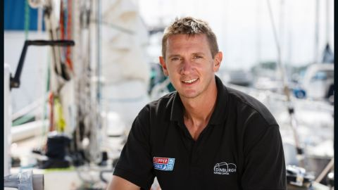 "Piers Dudin, skipper of the ""Edinburgh Inspiring Capital"" yacht"