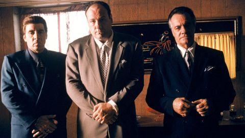 From left to right: Steven Van Zandt as Silvio Dante, James Gandolfini as Tony Soprano and Tony Sirico as Paulie Walnuts star in HBO's hit television series, 'The Sopranos' (Year 3). (Photo by HBO)